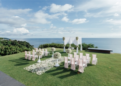 泰国普吉岛帕瑞莎海景草坪婚礼