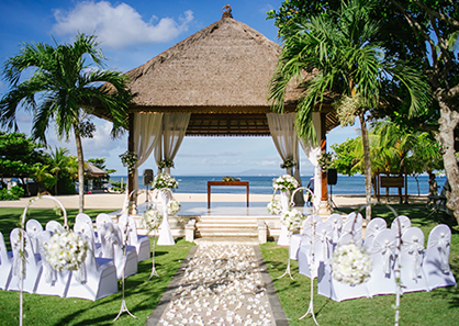 巴厘岛努沙杜瓦花园婚礼
