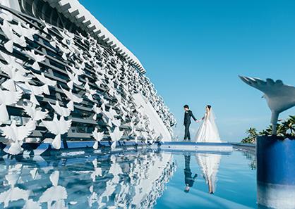 巴厘岛悦榕庄白鸽教堂婚礼