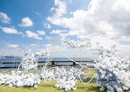 巴厘岛云之海景草坪婚礼